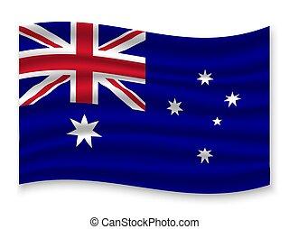 bandeira acenando, vetorial, ilustração, 3d
