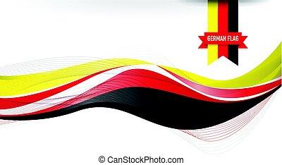 bandeira alemã, fundo
