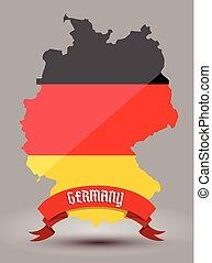 bandeira alemanha, mapa