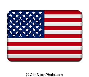bandeira, américa, botão, ícone