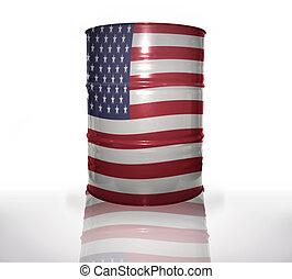 bandeira americana, barril