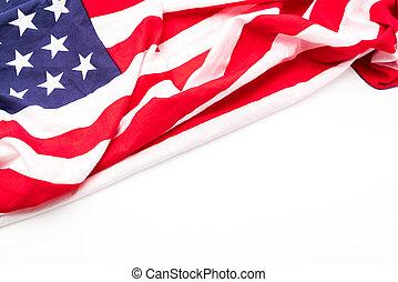 bandeira americana, branco, fundo, .