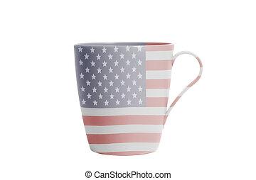 bandeira americana, copo