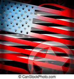 bandeira americana, denominado, fundo