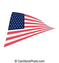 bandeira americana, emblema, nacional