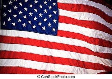 bandeira americana, experiência.