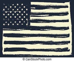 bandeira americana, experiência., horizontais, orientation.