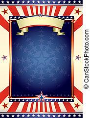 bandeira americana, fresco
