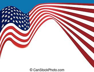 bandeira americana, fundo, eua, nacional, cores, ondulado, fundo