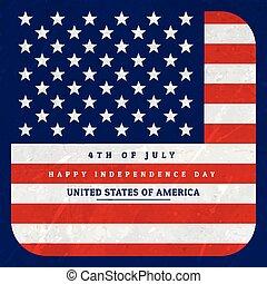 bandeira americana, fundo, ilustração