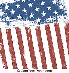 bandeira americana, grunge, experiência., vetorial, eps10