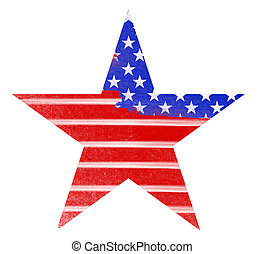 bandeira americana, grunge, ilustração