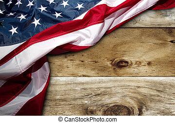 bandeira americana, ligado, placas
