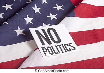 bandeira americana, -, não, política
