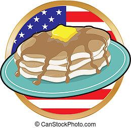 bandeira americana, panqueca