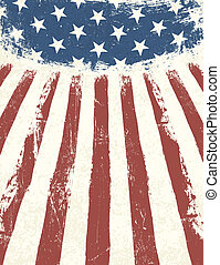 bandeira americana, themed, experiência., vetorial