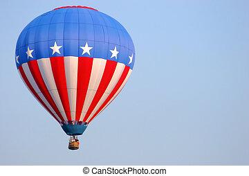 bandeira, americano, balloon
