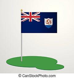 bandeira, anguilla, polaco