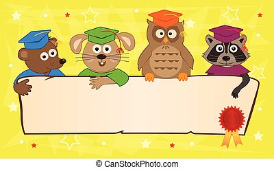 bandeira, animal, graduação