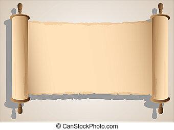 bandeira, antigas, scroll