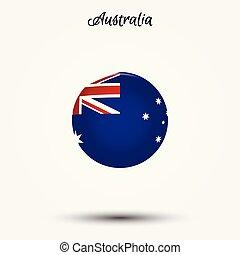 bandeira, austrália, ícone