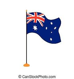 bandeira, austrália, isolado