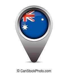 bandeira austrália, vetorial, ponteiro