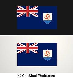 bandeira, bandeira, anguilla, desenho
