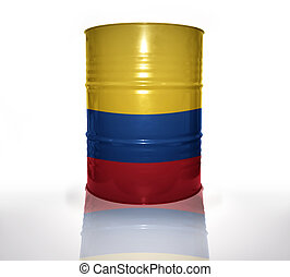 bandeira, barril, colombiano