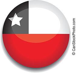 bandeira, botão, chile