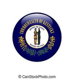 bandeira, botão, kentucky