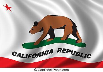 bandeira, califórnia