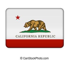 bandeira california, botão