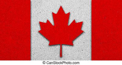 bandeira canadá, papel, grunge, fundo