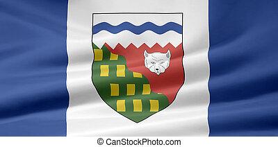 bandeira canadá, território, -, noroeste
