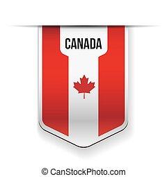 bandeira canadá, vetorial, fita