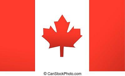 bandeira canadá, vetorial, fundo