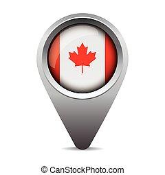 bandeira canadá, vetorial, ponteiro