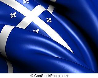 bandeira, canada., quebec, província
