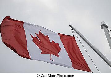 bandeira canadense, vento