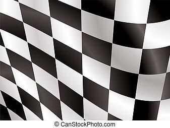 bandeira, checkered, aba
