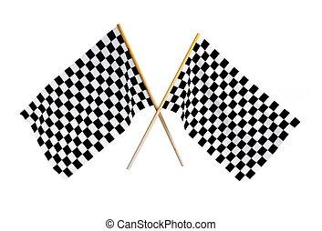 bandeira, checkered