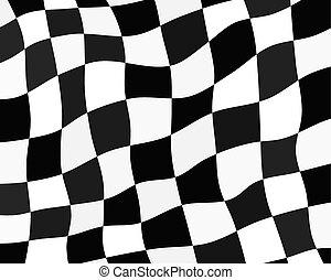 bandeira, checkered, fundo
