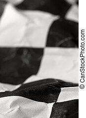 bandeira, checkered, raça
