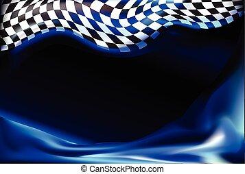 bandeira, checkered, raça, vec, fundo