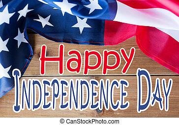 bandeira cima, americano, fim, dia, independência