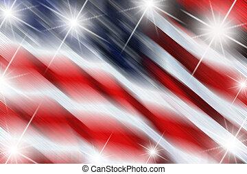 bandeira, com, estrelas