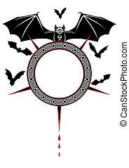 bandeira, com, morcegos