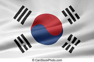 bandeira, coréia sul