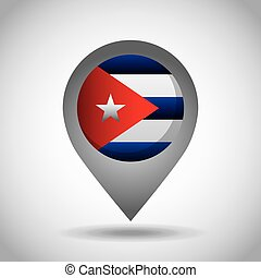 bandeira cuba, alfinete